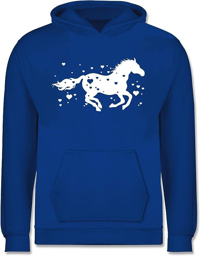 Kinder Pullover Tiermotive Kind Wild und Frei Pferdemotiv Shirtracer