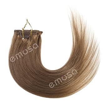 Groovy Amazon Com Emosa Silky Straight 100 Human Hair Clip In Short Hairstyles Gunalazisus