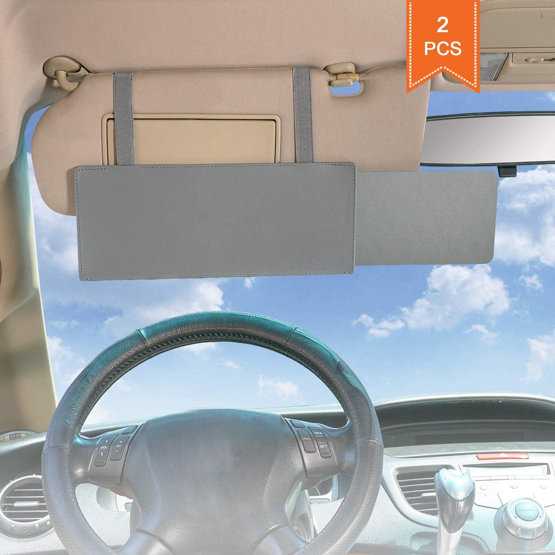 Wanpool Auto Sonnenblende Blendschutz Sonnenblende Für Vordersitz Fahrer Und Beifahrer 2 Stück Grau Auto