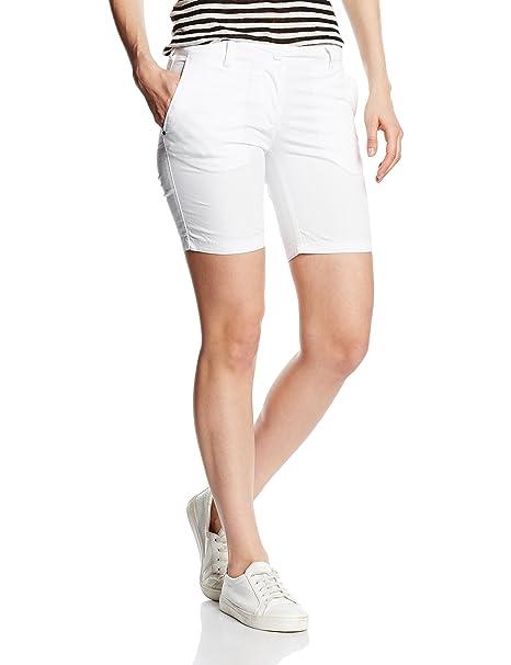 Napapijri NAUTI - Bermudas para mujer, color Blanco (Bright White 002), talla 36 ES / DE 34: Amazon.es: Ropa y accesorios