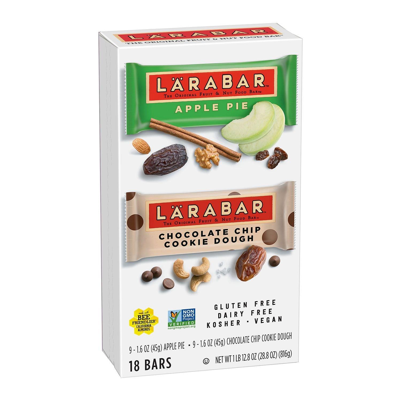 Larabar Fruit & Nut Bars: Apple Pie and Chocolate Chip Cookie Dough (1.6 oz. ea.18 ct.)