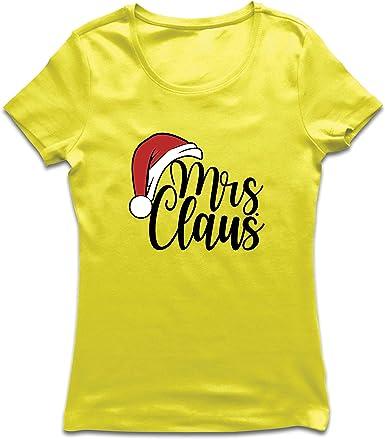 lepni.me Camiseta Mujer Sra. Claus Pijama de Navidad Gracioso: Amazon.es: Ropa y accesorios