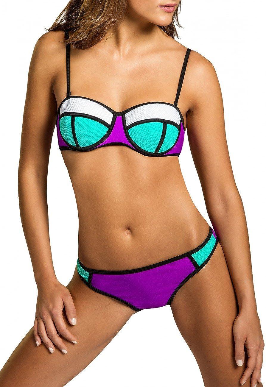 CASPAR BIK005 Donna Bikini Costume da Bagno a Fascia - Due Pezzi