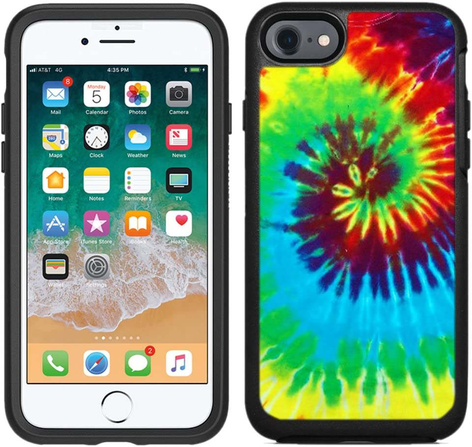 Teleskins Protective Designer Vinyl Skin Decals/Stickers Compatible with Otterbox Symmetry iPhone 8 / iPhone 7 Case - Tie Dye Design Patterns - only Skins and not Case