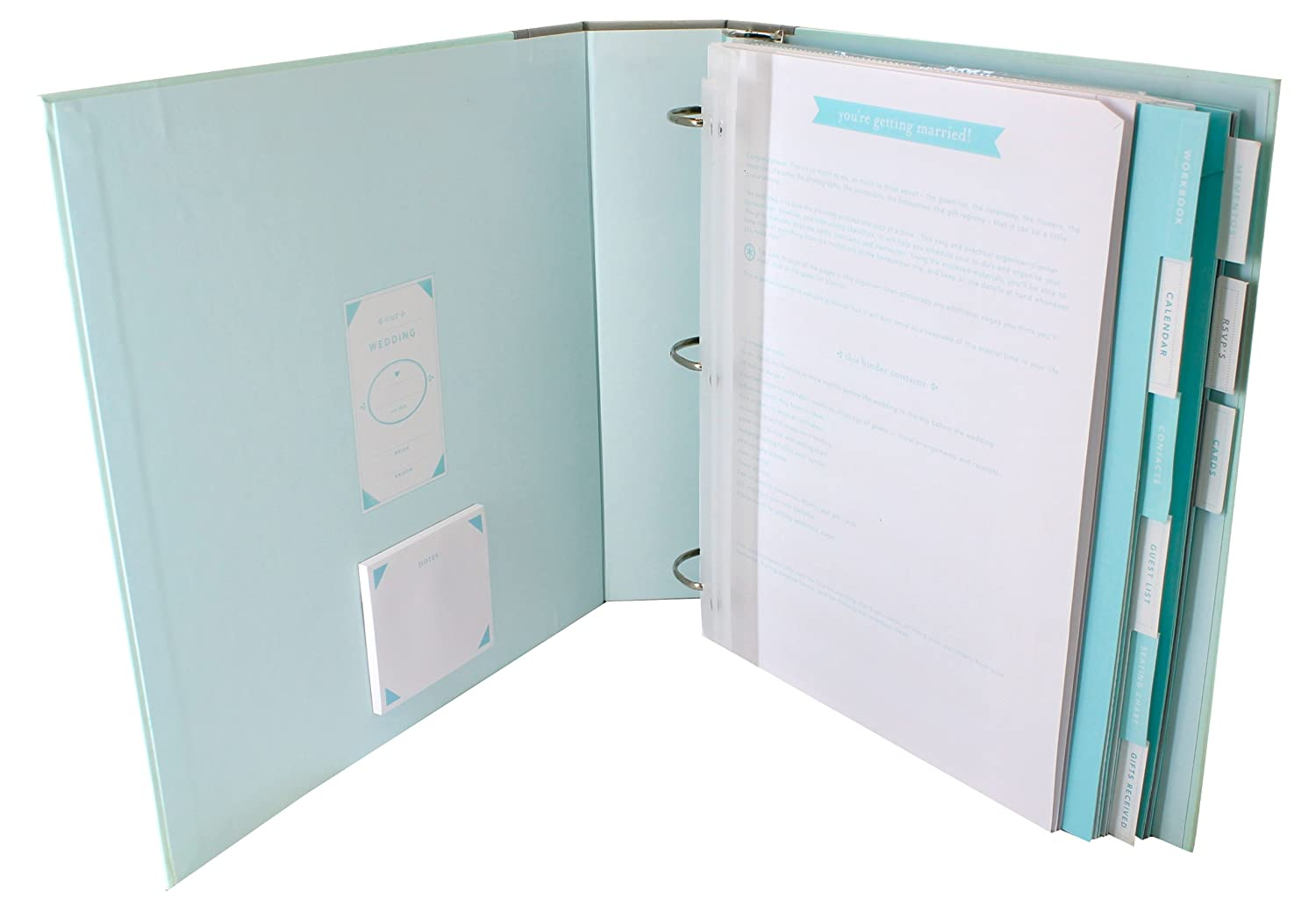 Amazon.com : MARTHA STEWART Wedding Planner & Organizer Binder ...