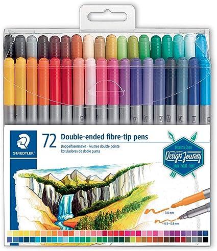 Staedtler Design Journey 3200 Tb72. Rotuladores para Lettering de Doble Punta. Caja con 72 Marcadores de Colores Variados: Amazon.es: Oficina y papelería