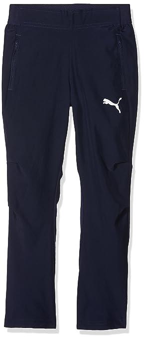 Puma Children s Liga Sideline Woven Pants Jr Trousers  Amazon.co.uk ... c0bdea23a2a8e