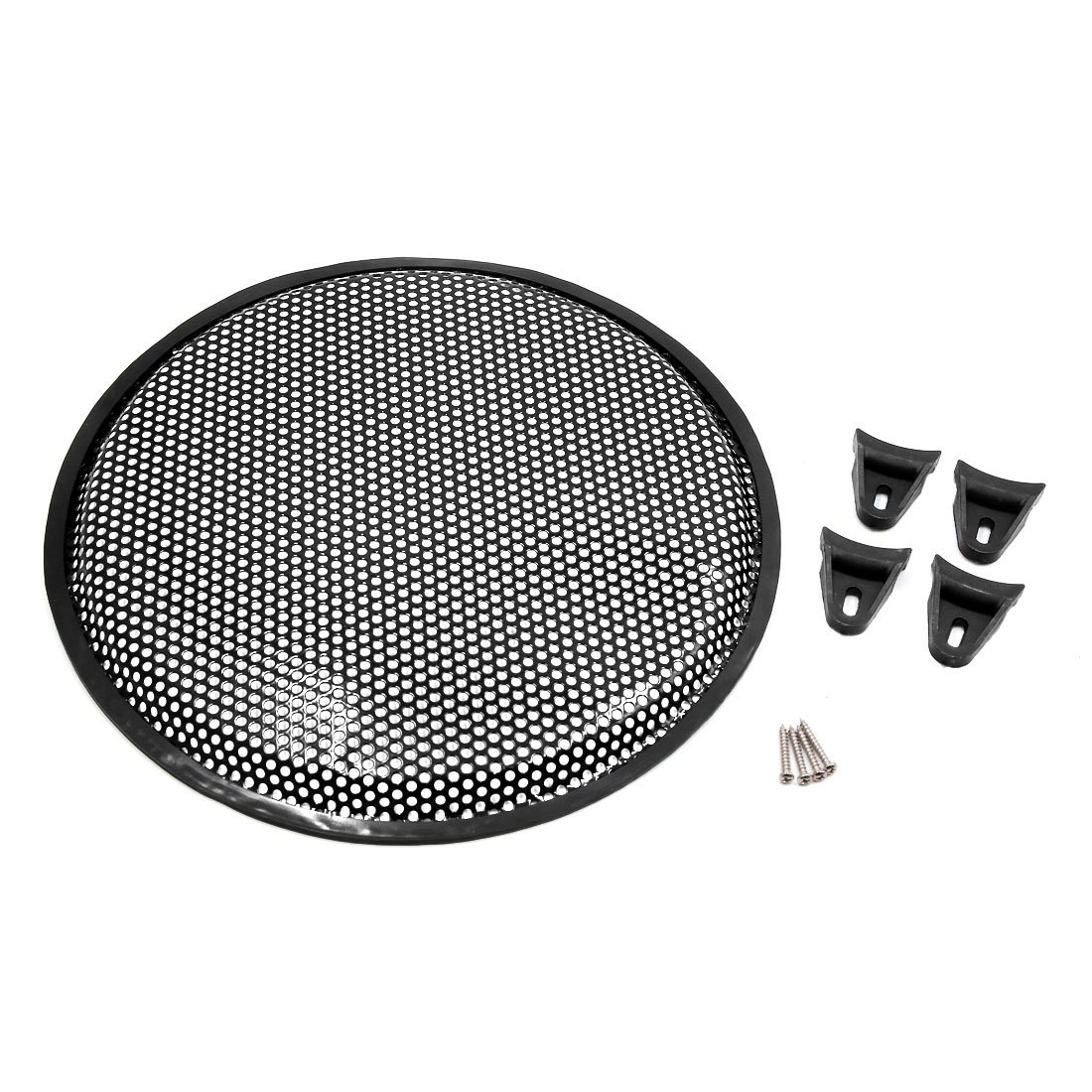 uxcell 12 Inch Metal Car Audio Speaker Subwoofer Grill Gridiron Cover Protector Black
