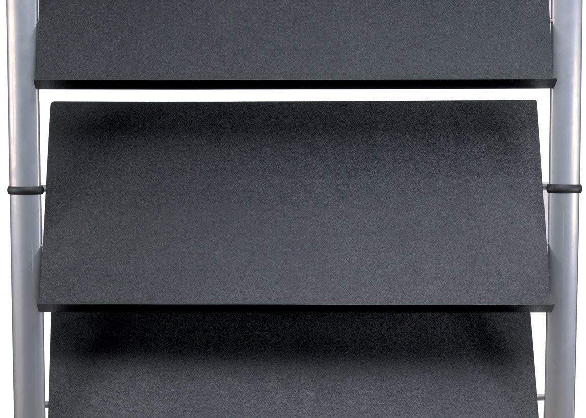 mobile con 5 ripiani Espositore a colonna da terra colore nero Alba