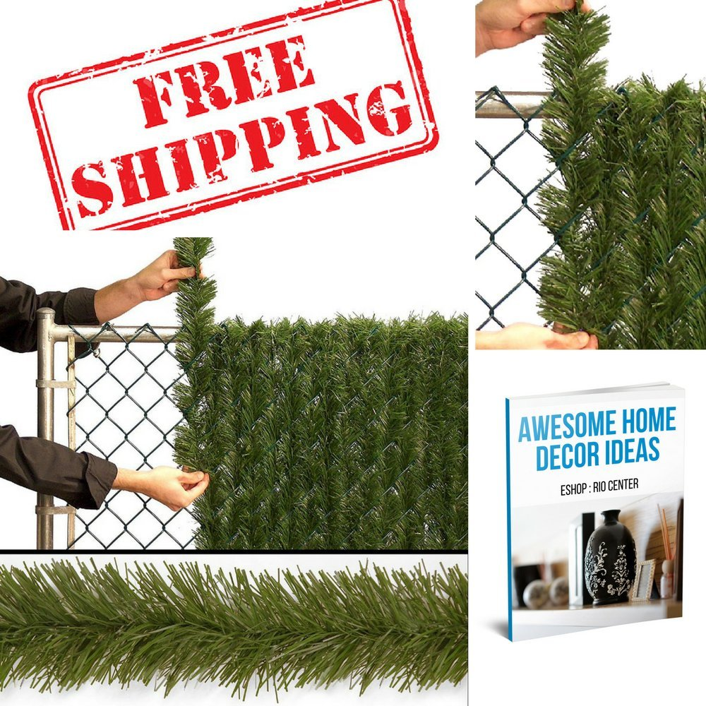 Outdoor Privacy Screen,Outdoor Decorations Fence Gate Christmas,Xmas Garden Picket Tree Fence Braid,Create Privacy And Add Beauty Around Property & EBOOK AWESOME HOME DECOR IDEAS. by CENTER
