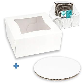 Amazon.com: Caja para tartas/tartas con ventana y tablero ...
