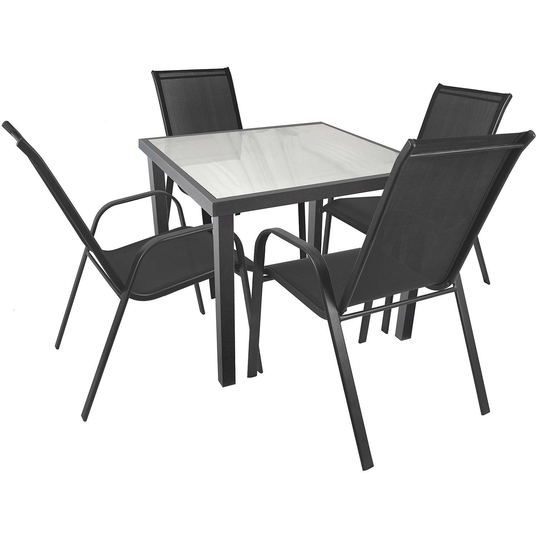 5tlg. Sitzgruppe Sitzgarnitur Gartenmöbel Set Gartengarnitur ...