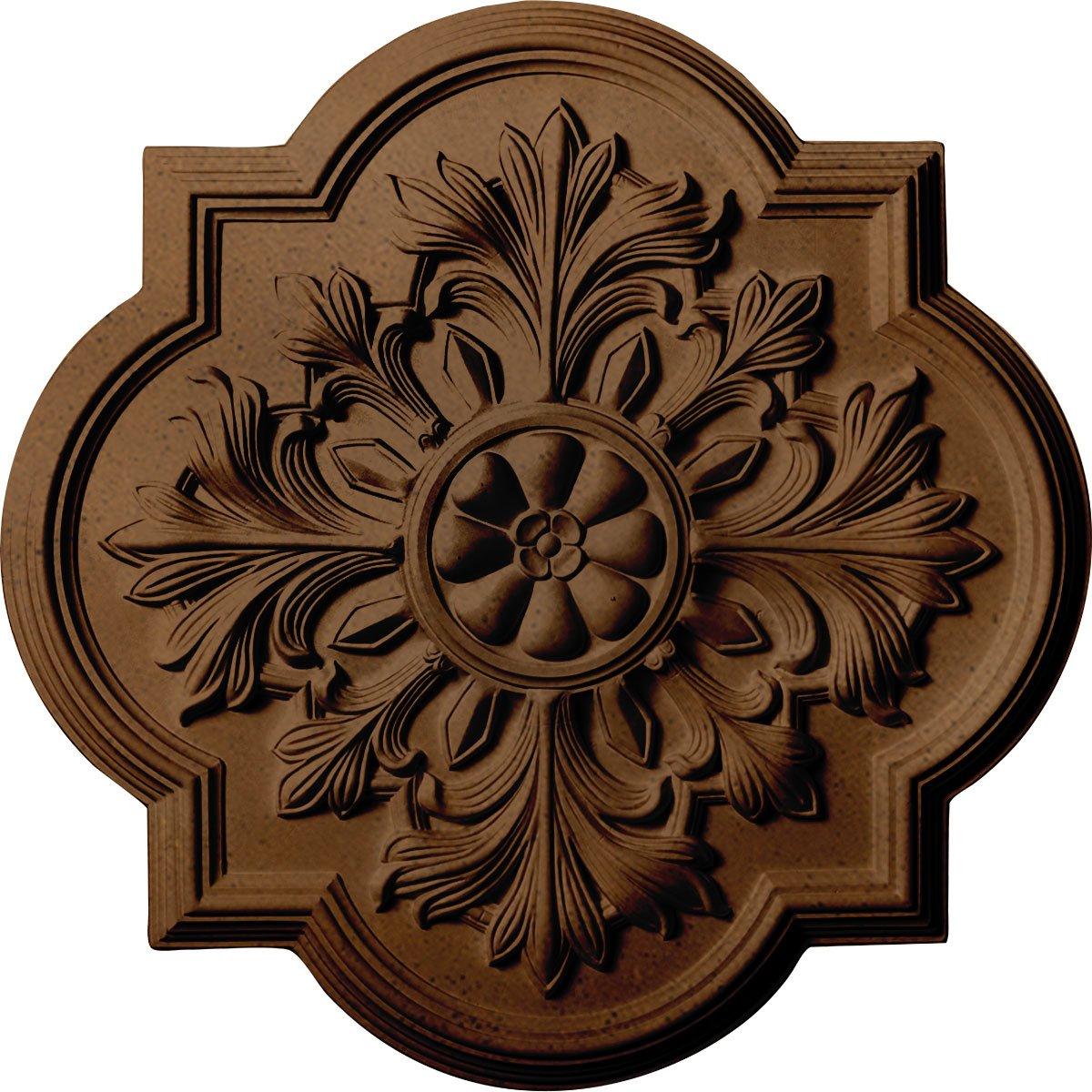 Ekena Millwork CM20BORZS Bonetti Ceiling Medallion, Rubbed Bronze