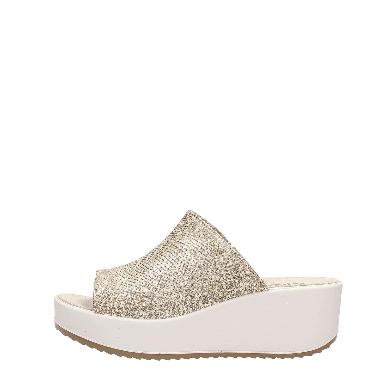 IGI CO scarpe donna donna donna ciabatte con zeppa 78207 00Platino b82180 4f5c77802dd