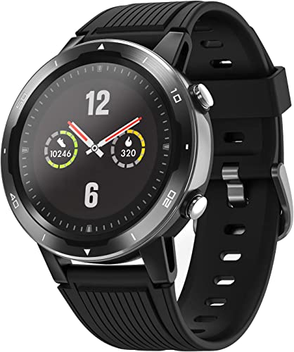 Letsfit Smart Watch with Oxygen Saturation Monitor and Heart Rate Monitor, Step Counter, Sleep Swim Tracking, 5ATM Waterproof GPS Smartwatch Compatible with iPhone and Android