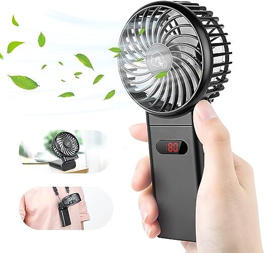 Mini Handheld Fan - 4000mAh Personal Portable Fan USB Rechargeable, Battery Operated Handheld Fan 4 Speeds