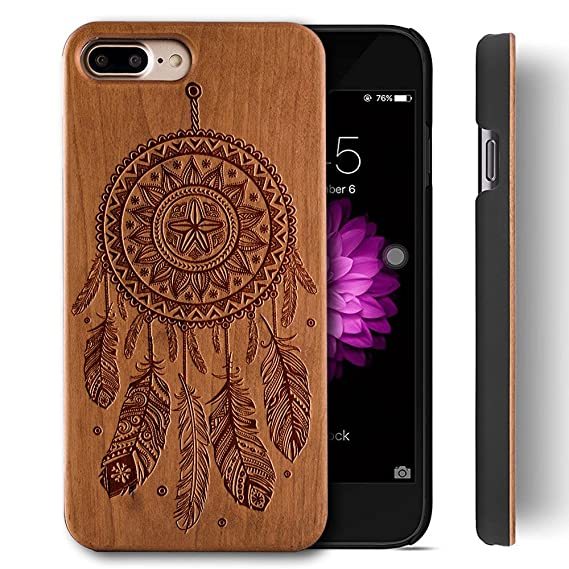 amazon com wooden case for iphone 7 plus wood case,yuanqianwooden case for iphone 7 plus wood case,yuanqian handmade natural real wood patented design