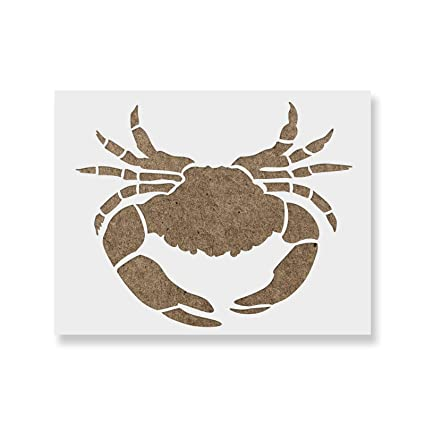 Amazoncom Maryland Crab Stencil Template For Walls And Crafts