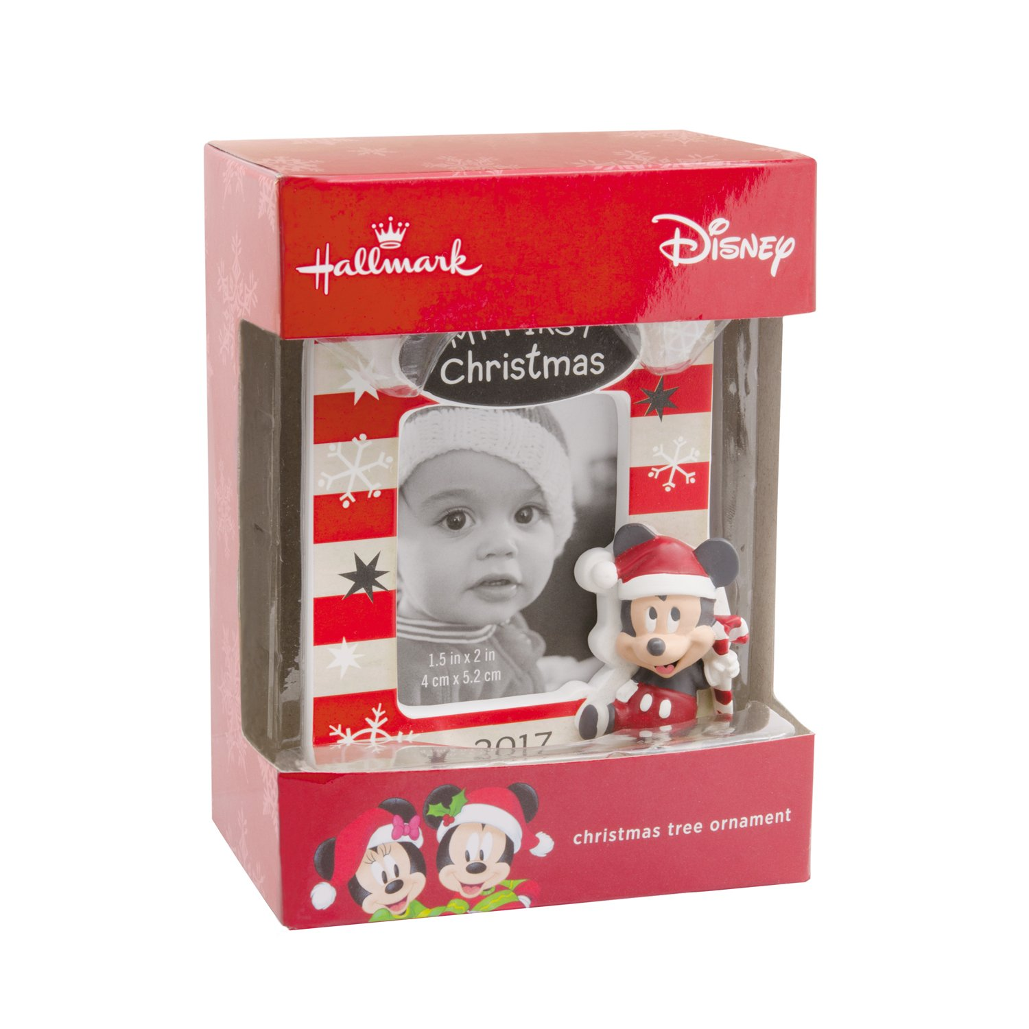 hallmark disney mickey mouse babys first christmas 2017 picture frame christmas ornament - Mickey Mouse Picture Frames