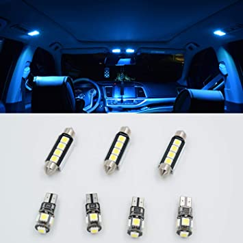 7pcs hielo azul LED SMD CANBUS interior luz Kit lámpara para T5 T5.1 T6 Transporter: Amazon.es: Coche y moto