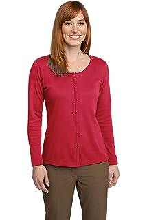 6e39dbeb1c88 Port Authority LSW304 Ladies Value Jewel-Neck Cardigan Sweater Navy ...