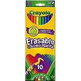 Crayola 10 Count Erasable Colored Pencils, Multi, 10 Pencils