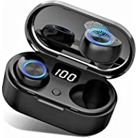True Wireless Earbuds Universes Bluetooth 5.0 with Latest Charging Case Digital Intelligence LED Display TWS Stereo Premium Deep Bass Headphones in Ear Built in Mic Instant Pairing Driving/Work/Sports