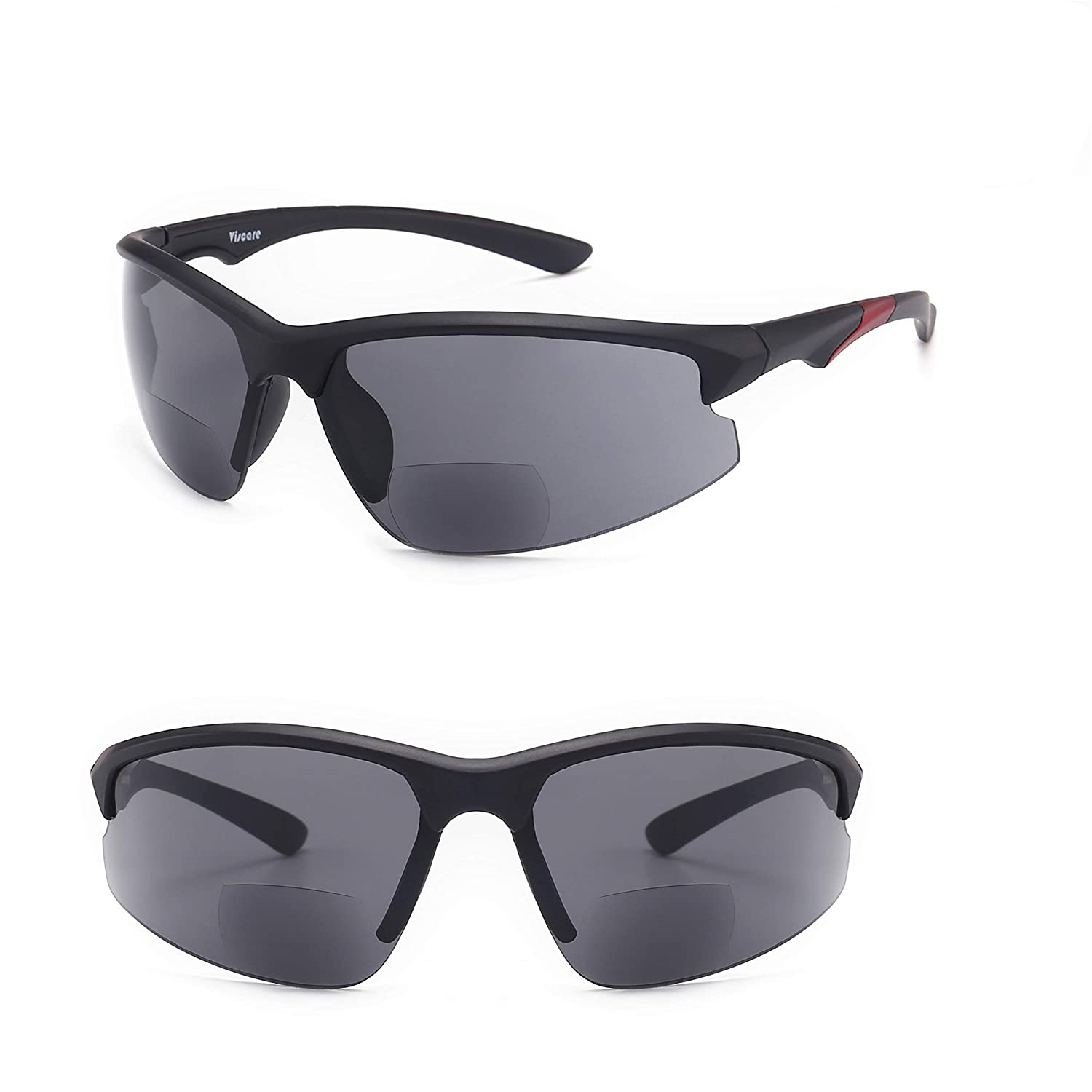 c1708d2b5764 Ultra-light Viscare Men Women Bifocal Sport Wrap Sunglasses with readers  (+1.00