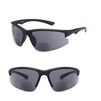 f2c82b082b Ultra-Light Viscare Men Women Bifocal Sport Wrap Sunglasses with Readers