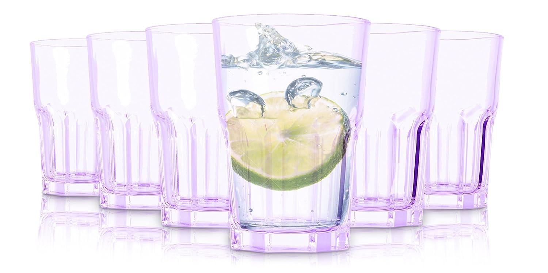 Tivoli Vasos de London/Set de 6/350 ML/Vasos de Agua/en púrpura
