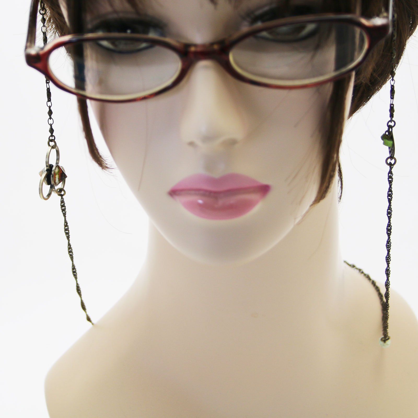 Tamarusan Glasses Chain Cicada Green Plainite Unisex Glass Code by TAMARUSAN (Image #4)