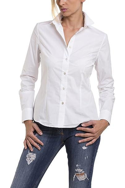 23a7d516fb Atelier Boldetti - Camicia Donna Classica Bianca, Taglia: 38: Amazon ...