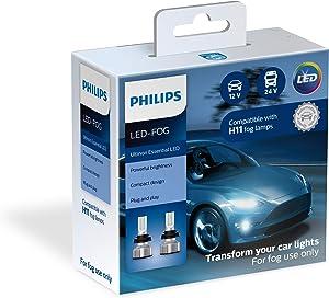 Philips Automotive Lighting H11 Ultinon Essential LED Fog Lights, 2 Pack