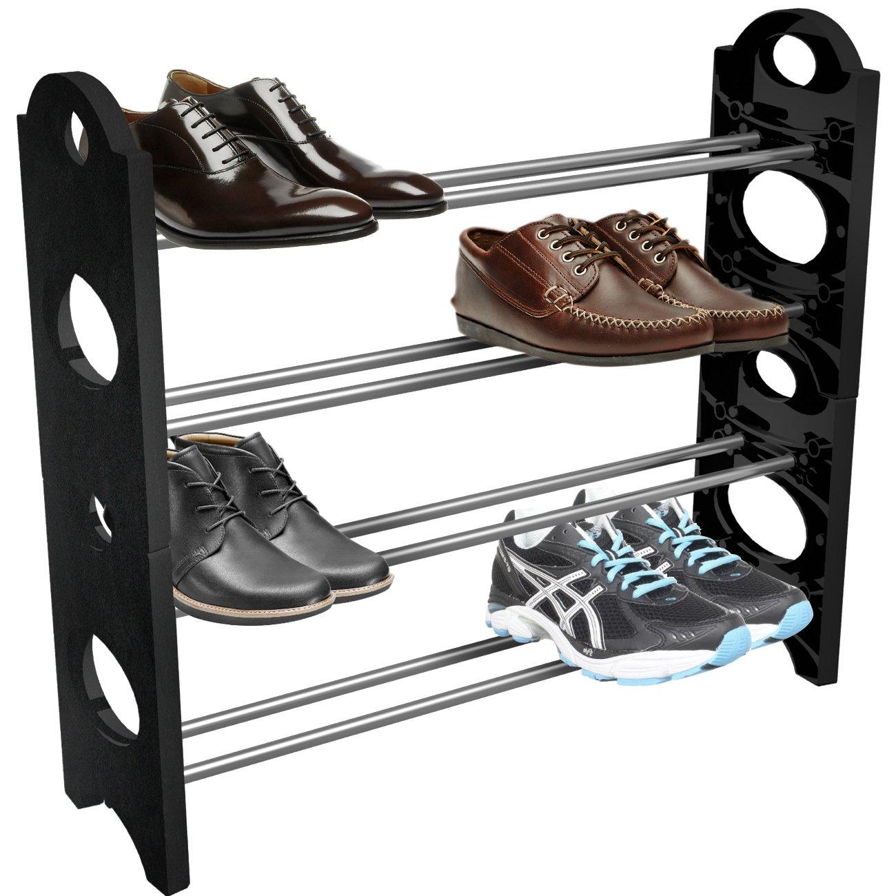Sorbus Shoe Rack Organizer- 20 Pairs, Black