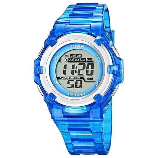 Calypso Cronógrafo Mujer Reloj Azul Digital Relojes Colección d1uk5602/2: Amazon.es: Relojes