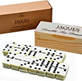 Dominoes - Club Double Six Dominoes Set in a Wooden Slide Lid Box - Great for Children & Adults - Jaques of London