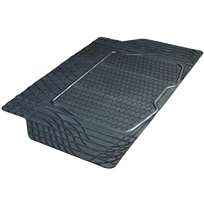 Armor All 78919 Heavy-Duty Rubber Trunk Cargo Liner Floor Mat Trim-to-Fit for Car, SUV, SUV and Trucks, Black: Automotive