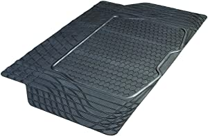 Armor All 78919 Heavy-Duty Rubber Trunk Cargo Liner Floor Mat Trim-to-Fit for Car, SUV, SUV and Trucks, Black