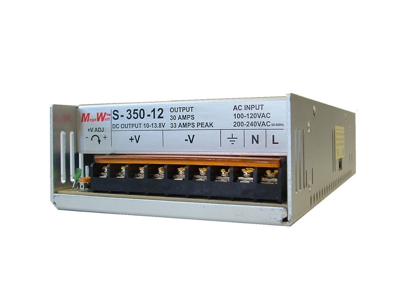 Home 187 schlafen amp bad 187 wellness pur - Amazon Com Megawatt S 350 12 30 Amp 9 5 15 Volts Adjustable Ham Cb Radio Power Supply 13 8v 12v 33a Peak Not A Clone Real Megawatt Mw Home Audio