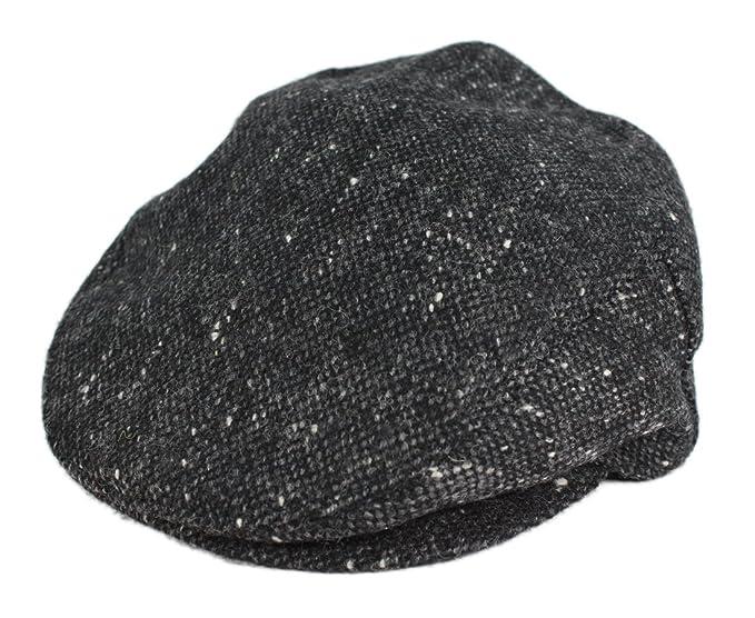 6f987e45ed2 John Hanly Mens Flat Cap 100% Wool Grey Fleck Made in Ireland Small ...