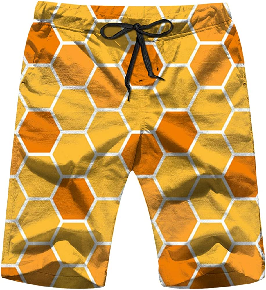 Sea Anchor White Mens Swim Trunk Sportwear Quick Dry Board Shorts with Lining