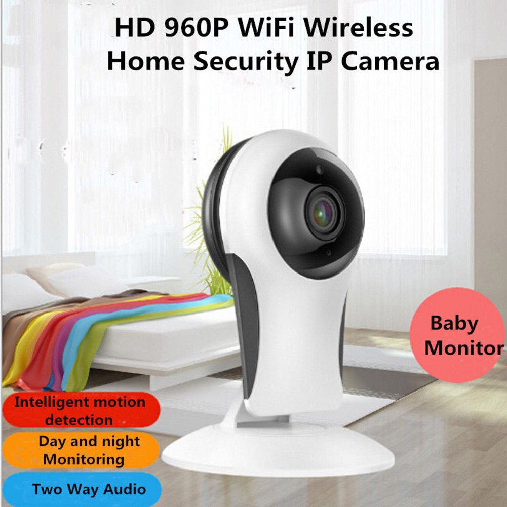 Pettstore Wireless Security Camera, 960P HD WiFi IP Camera Home Security Surveillance System With 2.4GHz Night Vision Webcam Wall-mounted For Elder/ Pet /Baby Monitor (US Regulations, White)
