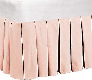 "Serenta 14"" Drop Microfiber Dust Ruffle Bed Skirt, King, Light Pink"