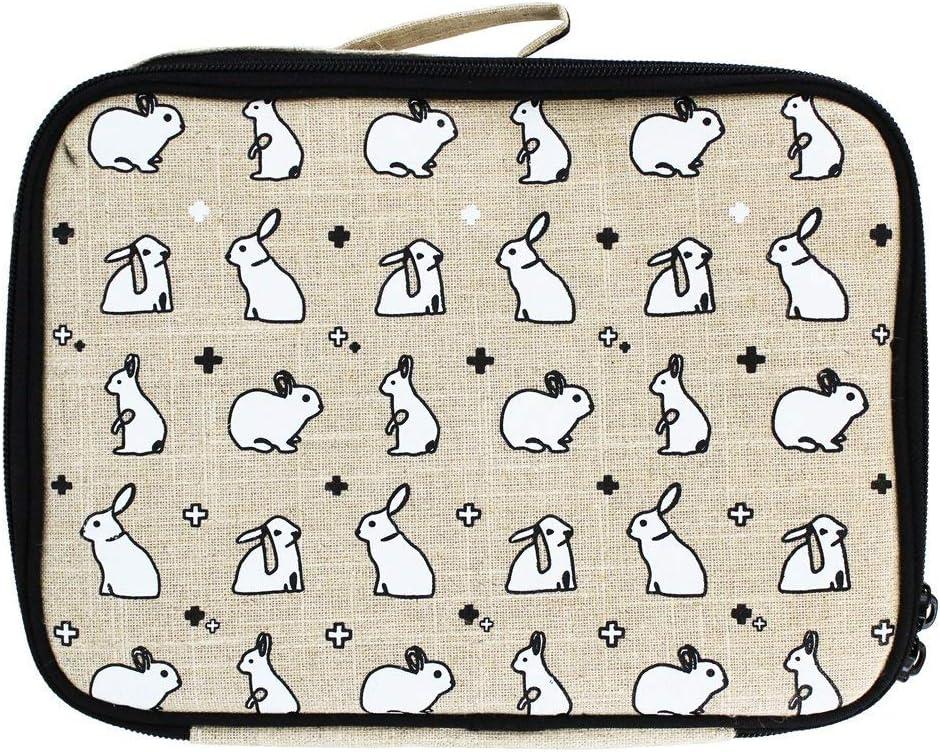 rohes Leinen Olive Fox SoYoung Lunchtasche leicht zu reinigen auslaufsicher umweltfreundlich Retro-inspiriert
