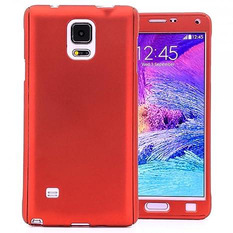 COOVY® Funda para Samsung Galaxy Note 4 SM-N910 / SM-N910F / SM-N9100 360 Grados, Carcasa Ultrafina y Ligera, con Protector de Pantalla, protección de ...