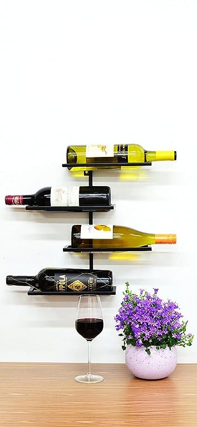 Amazon.com: Superiore Livello Pisa 4 Bottle Wall Mounted Wine Rack ...