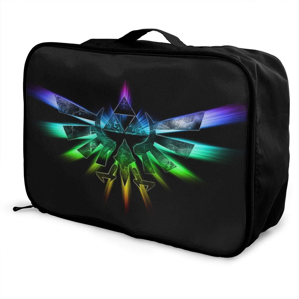 BOKAIKAI1306 Handsome Legend Zelda Unisex Adults Fashion Lightweight Large Capacity Portable Large Travel Duffel Bag Mens Woman Luggage Bag 3D Printing Customized Boarding Box
