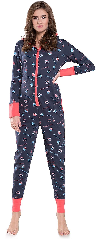 TALLA L. Italian Fashion IF Pijama Entero Mono Mujer IF180012