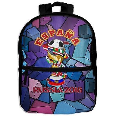 Kid sEspana 2018 World Cup Unisex Full 3D Printed Width Zipper School Bags  Kids  c317876554