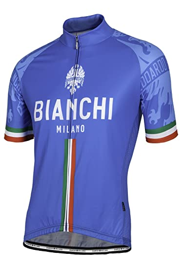 69a0837a135 Amazon.com   Bianchi Milano Italia Blue Short Sleeve Cycling Jersey ...